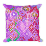 Crystal Rain - Lavender Square Pillow