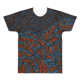 Paris METRO Couture: The Sea Deep Blue All-Over Printed T-Shirt - ParisMETROCouture.com