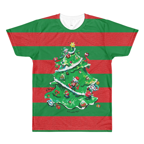 Paris METRO Couture: R.Freeland Holiday Tree Stripe T-Shirt - ParisMETROCouture.com