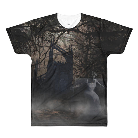 Paris METRO Couture: The Visitor Haunted All-Over Printed T-Shirt - ParisMETROCouture.com