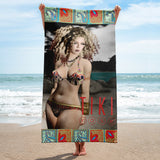 Amanda Magick Modeling That 70's Bikini BeachTowel