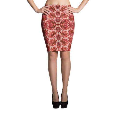 Royalty Spandex Bodycon Pencil Skirt