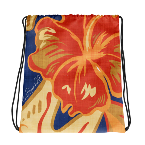 Hawaiian Vintage Tropical Drawstring bag