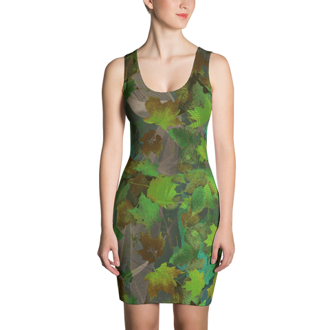 Paris METRO Couture: Falling Leaves in Leaf Green - ParisMETROCouture.com