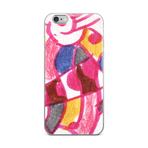 Pop Abstraction - Sketchy Cell Phone Case - Fits iPhone X and Other Sizes 5-X