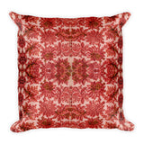 French Lace in Red Pink Square Pillow