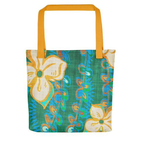 Hawaiian Vintage Seaweed Green Tote bag