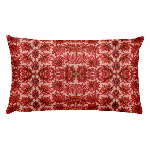 French Lace in Red Pink Rectangular Pillow