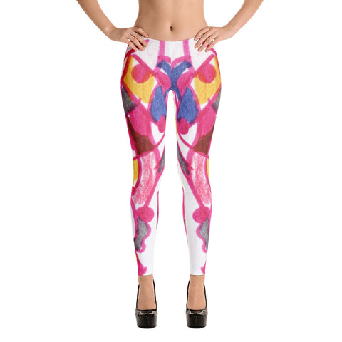 Abstract Mod Bodycon Stretch Spandex Leggings