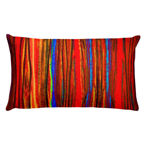 Pastel Stripe in Warm Colors Rectangular Pillow