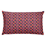 Circle in a Square, Rectangular Pillow -Pink Tones