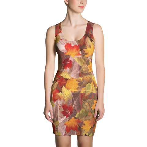 Paris METRO Couture: Falling Leaves Dress in Full Fall Colors - ParisMETROCouture.com