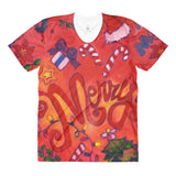 Merry Mistletoe Women's Novelty Holiday Crew Neck T-Shirt