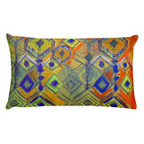 Crystal Rain - Earth Tones Rectangular Pillow