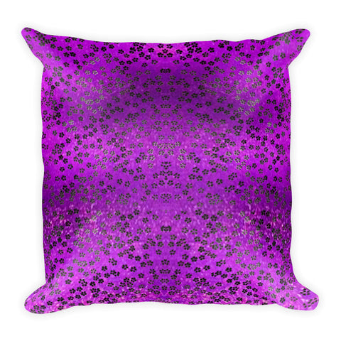 On My Way Little Flower Square Pillow - Purple
