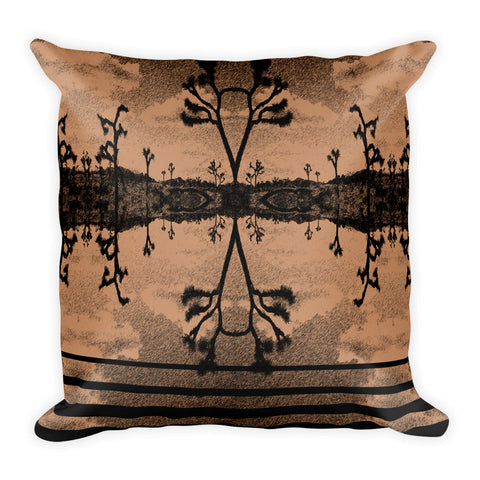The Desert by C. Kellerher Square Pillow