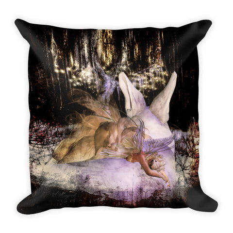 Masquerade Fairy by Amanda Magick Square Pillow
