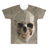 Paris METRO Couture: Paper Skull for Men All-Over Printed T-Shirt - ParisMETROCouture.com