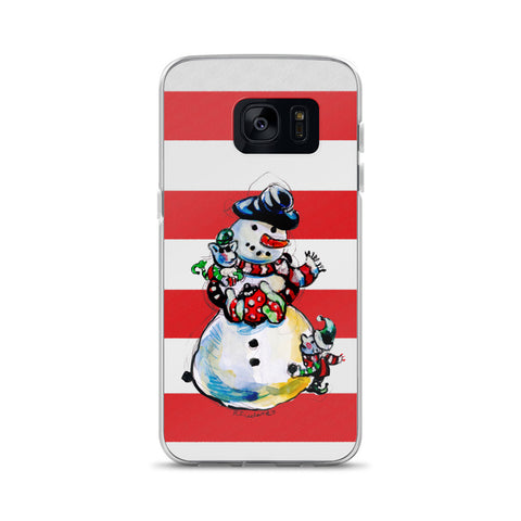 Mr. Snowman by. R.Freeland Signed Samsung Case