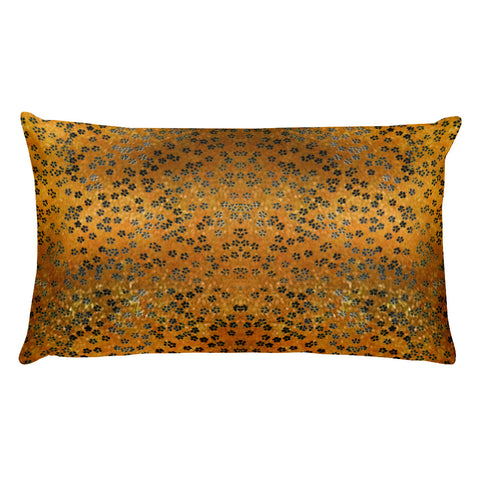 On My Way Little Flower Rectangular Pillow - Gold