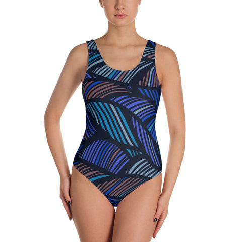 Big Wave at Night - One-Piece Swimsuit