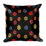Flower Dots Square Pillow