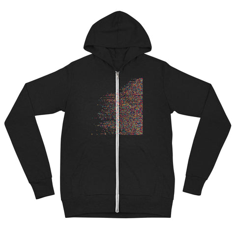 Digital Based Unisex zip hoodie