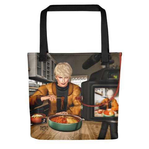 The Illustrative Art of Satus, Noodle Food Show, Tote bag