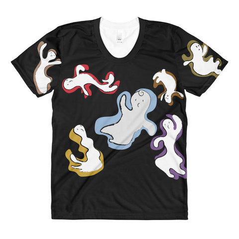 Paris METRO Couture: Many Ghosts Play T-Shirt in Black - ParisMETROCouture.com