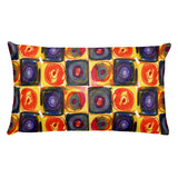 Circle in a Square Large Warm Colors Rectangular Pillow