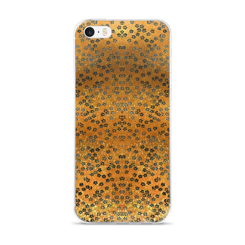 On My Way Little Flower- Gold Cell Phone Case - Fits iPhone X and Other Sizes 5-X