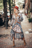 Chiffon Floral Printing Walk in The Park Dress