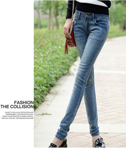 Paris METRO Couture: Comfort Sexy High Waist Denim Skinny Stretch Jeans - ParisMETROCouture.com