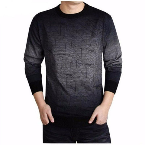 Luxury Wool Cashmere Pullover Sweater for Men