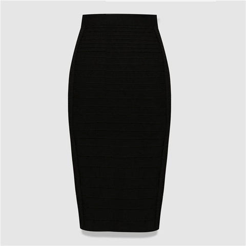 Asset Pencil Spandex Bodycon Bandage Skirts Knee Length