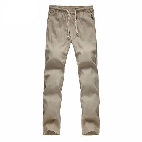 Comfortable High Quality Cotton Linen Casual Men's Drawstring pants