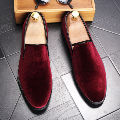 New 2017 Men's Velvet Luxury Slip-on Loafers - ParisMETROCouture.com
