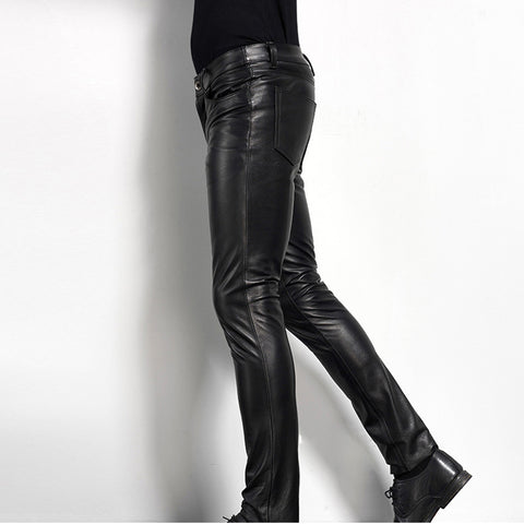 Men's Leather Pant Biker Motorcycle Leather Pants