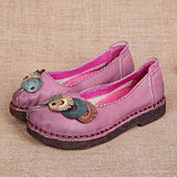 Handmade Cute Leather Flat Shoes
