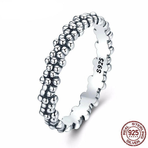 Genuine 925 Sterling Silver Vintage Stackable Ring - ParisMETROCouture.com