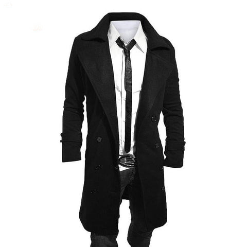 Urban Wool Trench Coat for Men - ParisMETROCouture.com