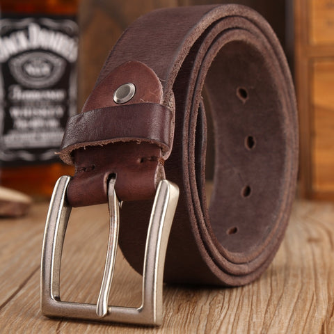 Men's Vintage Style 100% Full Grain Genuine Leather Belt