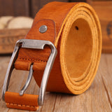 Men's High Quality Full Grain Genuine Leather Cowhide Casual Belt