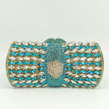 Socialite Rhinestone & Crystal Evening Clutch Bag with Shoulder Chain-Assorted Collection