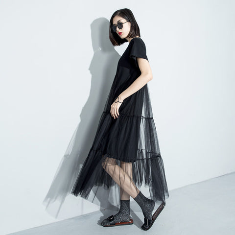 Swing Layered Perspective Dress - ParisMETROCouture.com