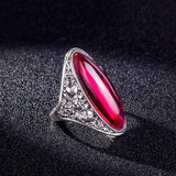 Romantic Gemstone Fashion Ring