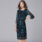 Elegant Embroidery Summer Dress in Sheer Layers