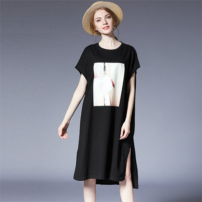 Expression Casual Statement Print Cotten Dress