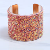 Modern Art Sequin Shine Cuff Bangle