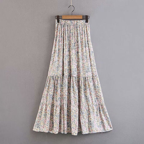 Beach Floral Long Skirt